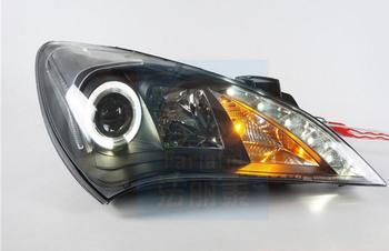 2pcs car Head light For Rohens Headlights 2009 2010 2011 2012year Rohens taillight LED DRL HI LO HID xenon