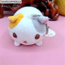 1PCS Cute Cat Plush Toys Small Pendant Mini Cartoon Cats Stuffed Toy For Kids Activities Gift 2019 Hot Sale 11CM HANDANWEIRAN