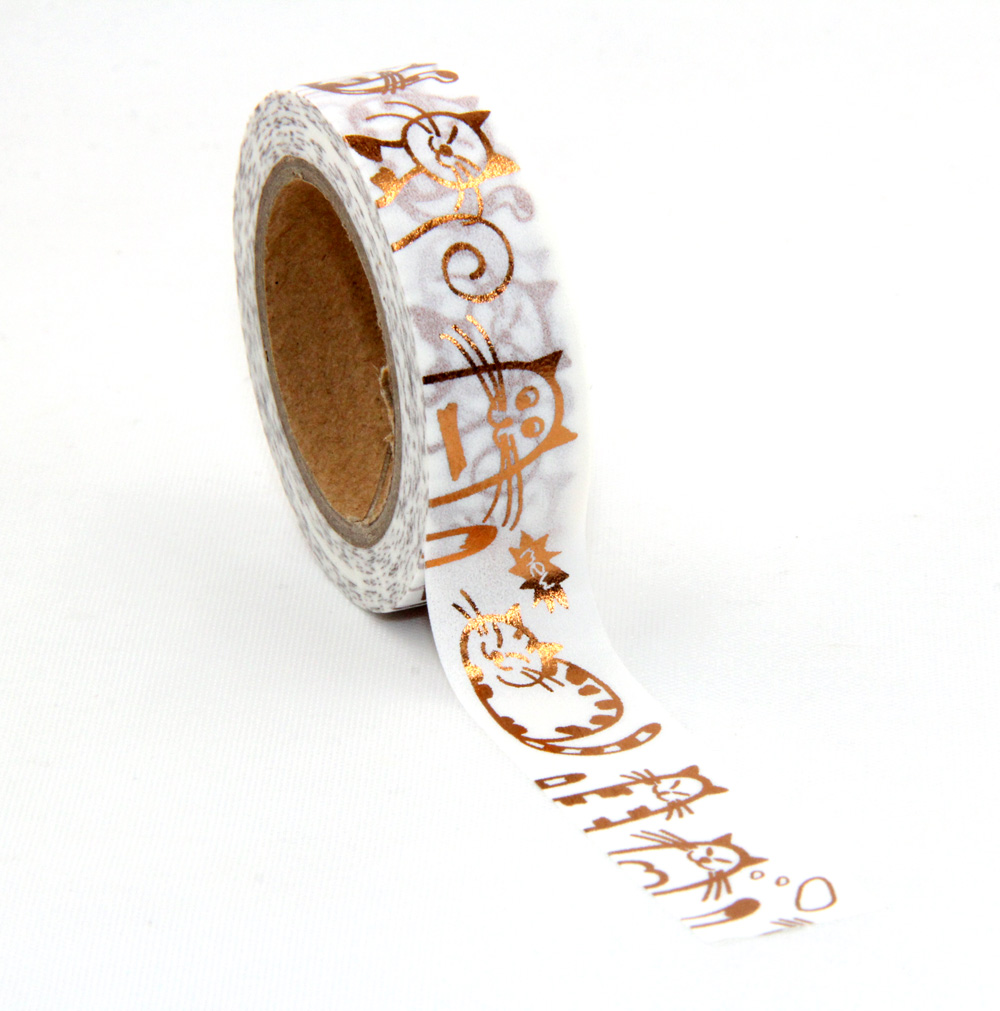 €440000 Geldwijzer 1X foil lovely cat kitten washi tape DIY decoration scrapbooking planner