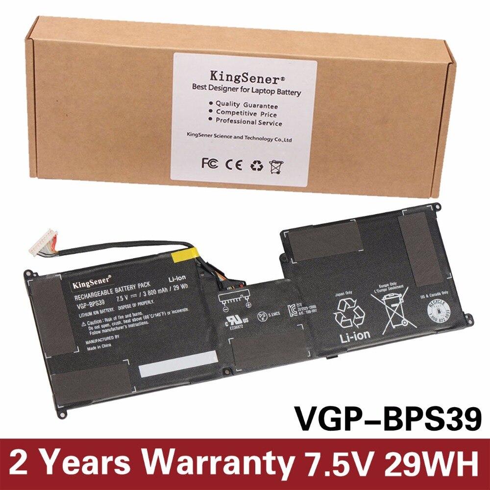 KingSener 7.5V 29WH  Laptop Battery VGP-BPS39 for Sony for Vaio Tap 11 SVT11213CXB SVT11215CW  SVT11223CGW SVT11219SCW басовый усилитель ampeg svt 3pro