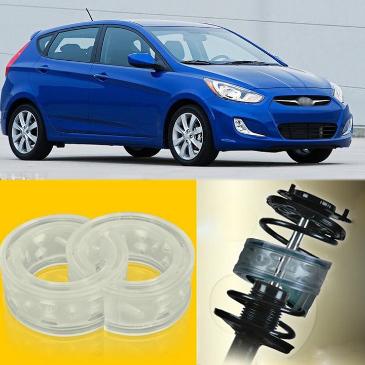2pcs Power Front /Rear Shock Suspension Cushion Buffer Spring Bumper For Hyundai Accent  high quality front rear car auto shock absorber spring bumper power cushion buffer for honda cr v
