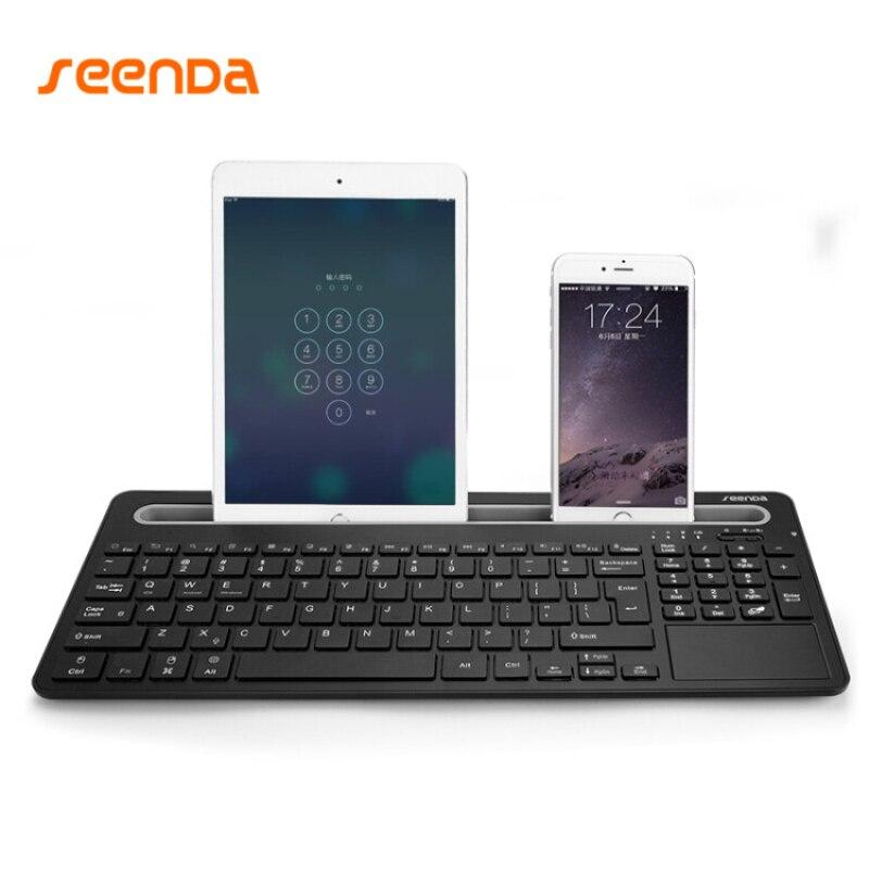 Seenda wireless multi platform multi device bluetooth 3 0 for Best home office wireless keyboard
