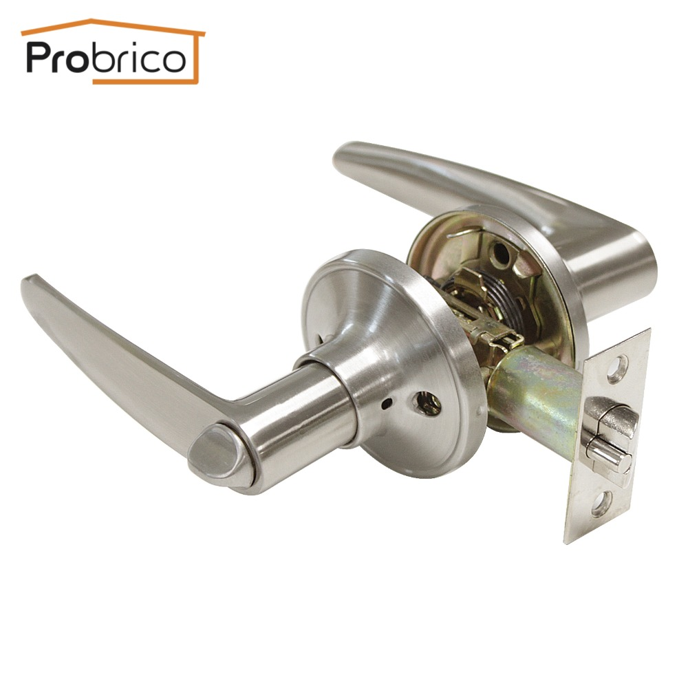 Probrico Stainless Steel Security Door Lock With Key DL815SNET Door Handles Entrance Locker Safe Lock zerozone dc9v 3a hifi linear power supply for amp dac external psu lps