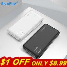 RAXFLY 10000mAh Power Bank Portable Powerbank External Battery Pack Dual USB Charging Poverbank For Samsung A50 iPhone 7 Xiaomi