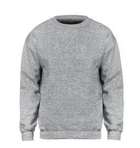 Solid color Sweatshirt Men Hoodie Crewneck Sweatshirts Winter Autumn Fleece Hoody Casual Gray Blue Red Black White Streetwear(China)