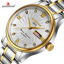 купить Mens watches Brand Luxury Stainless Steel Watch Date Week Waterproof Men Quartz Business Male Clock relogio reloj montre homme по цене 911.84 рублей