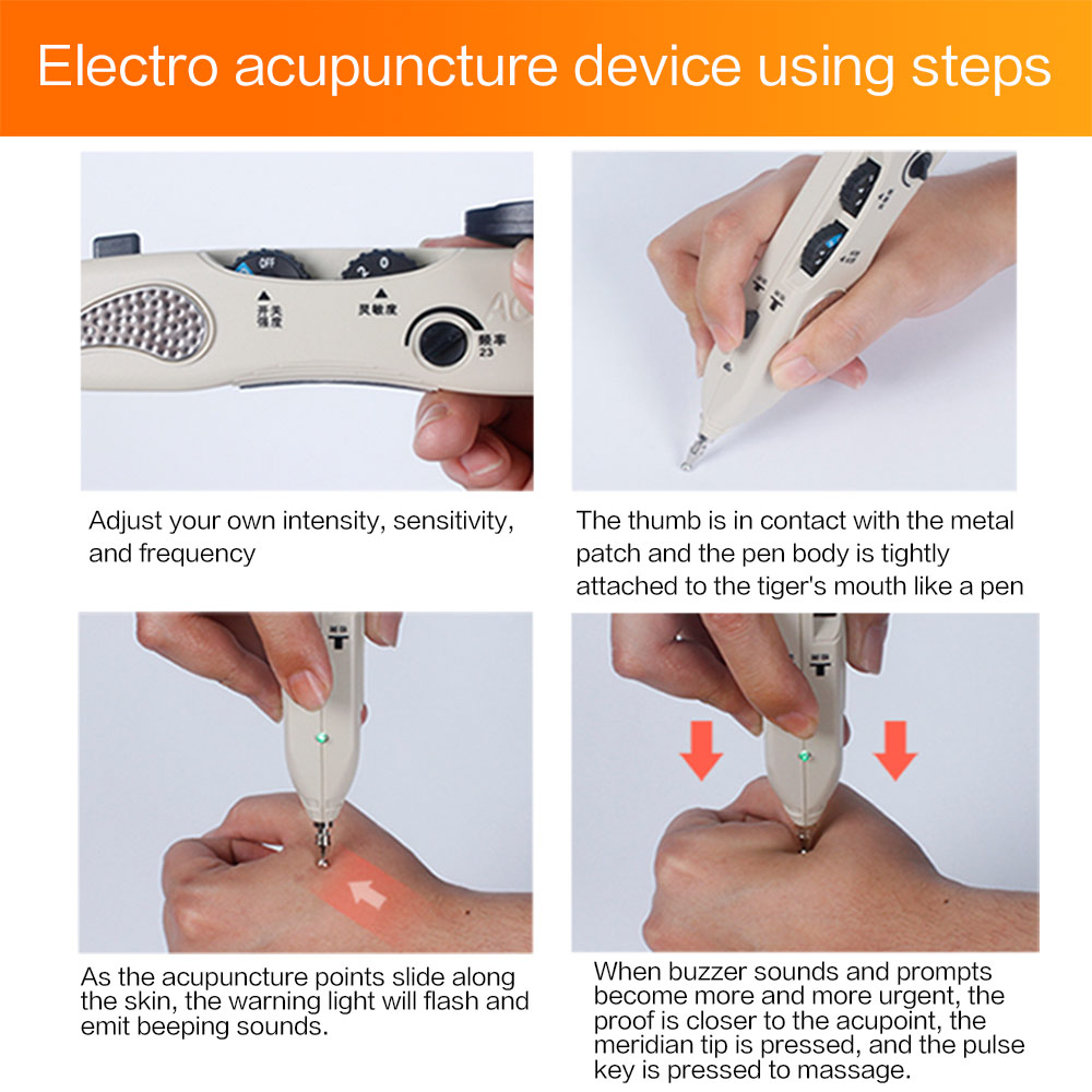 Image 5 - Acupuntura Pen Point Detector Electronic Massage Acupuncture Pen Pain Therapy Electric Acupuncture Meridian Pen Health Care-in Massage & Relaxation from Beauty & Health