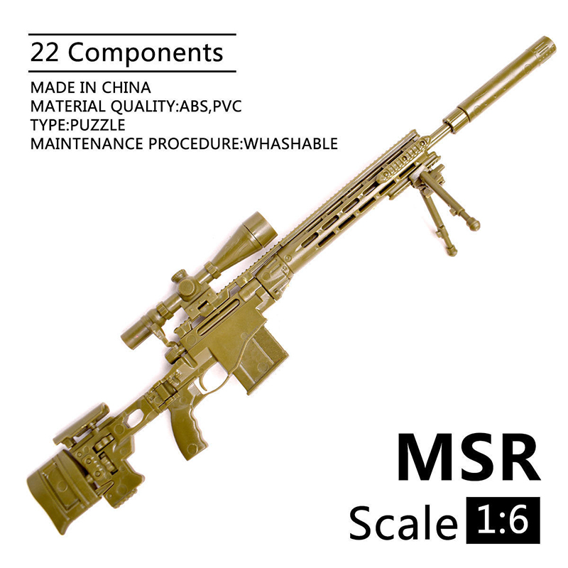 1:6 1/6 Scale MK14 Action Figures 12 Inch Accessories MSR Sniper Rifle Gun Toys 1/100 MG Bandai Gundam Accessory Model Toys Gift