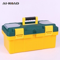 19 inch plastic tool box with handle, tray,compartment, storage and organizers toolbox 45*20*21CM bicycle household tool box