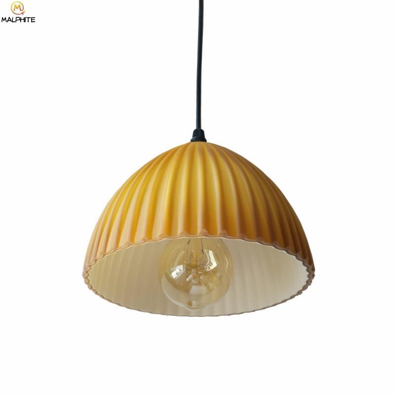 Nordic Glass LED Pendant Light American Retro Kitchen Fixtures Pendant Lamp Cafe Pub Hanging Industrial Decor Lighting Luminaire