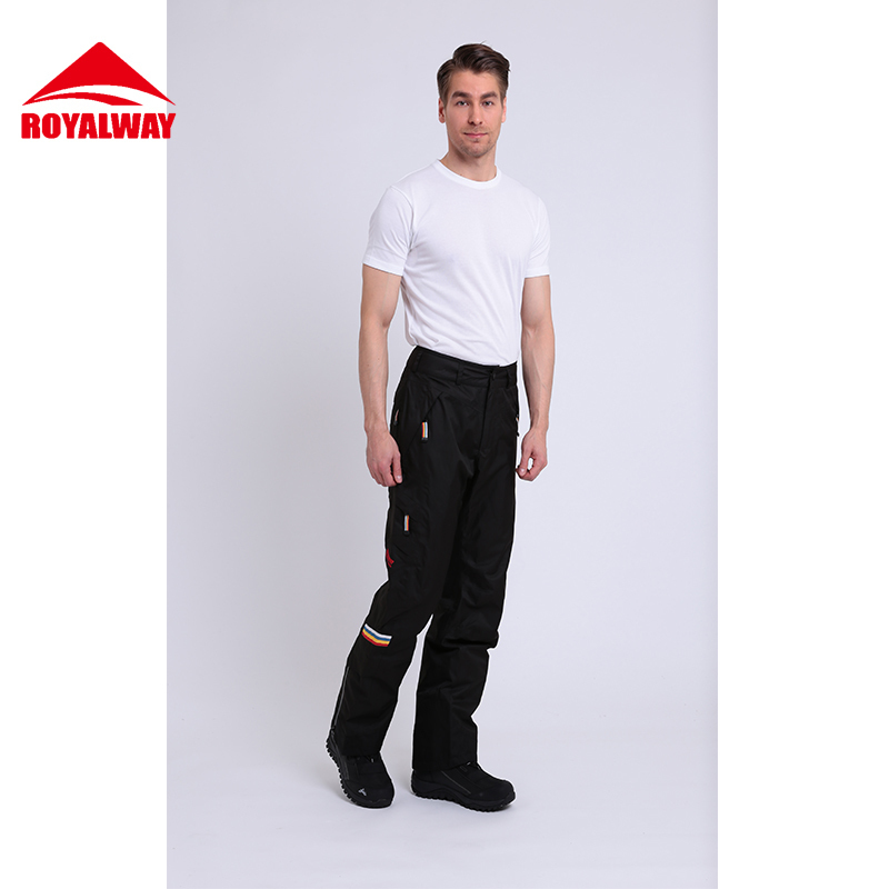 ROYALWAY Skiing Ski Pants Men Super Quality Wear Resistant Waterproof Windproof Professional Snowboard Pants Warm#RFJM4503G