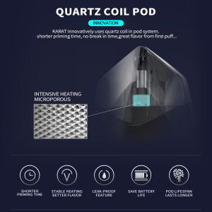 Image 5 - Original Smoant Karat Pod Starter Kit with 370mAh Battery 2ml Quarzt coil Cartridge Pod Magnet connection E cigarette Vape Kit