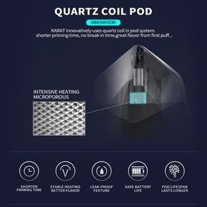 Image 5 - Orijinal Smoant Karat Pod başlangıç kiti 370mAh pil ile 2ml Quarzt bobin kartuş Pod mıknatıs bağlantı E sigara vape kiti