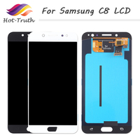 ORIGINAL 5.5 Super Amoled Replacement For Samsung Galaxy c8 C7 2017 C710F/DS C7100 LCD Display Touch Screen Digitizer Assembly