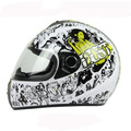 Dot approved mens Motorcycle Helmet Full Face Bike Protection capacetes Graffiti Skeleton Cascos Para Moto head gears S M L XL