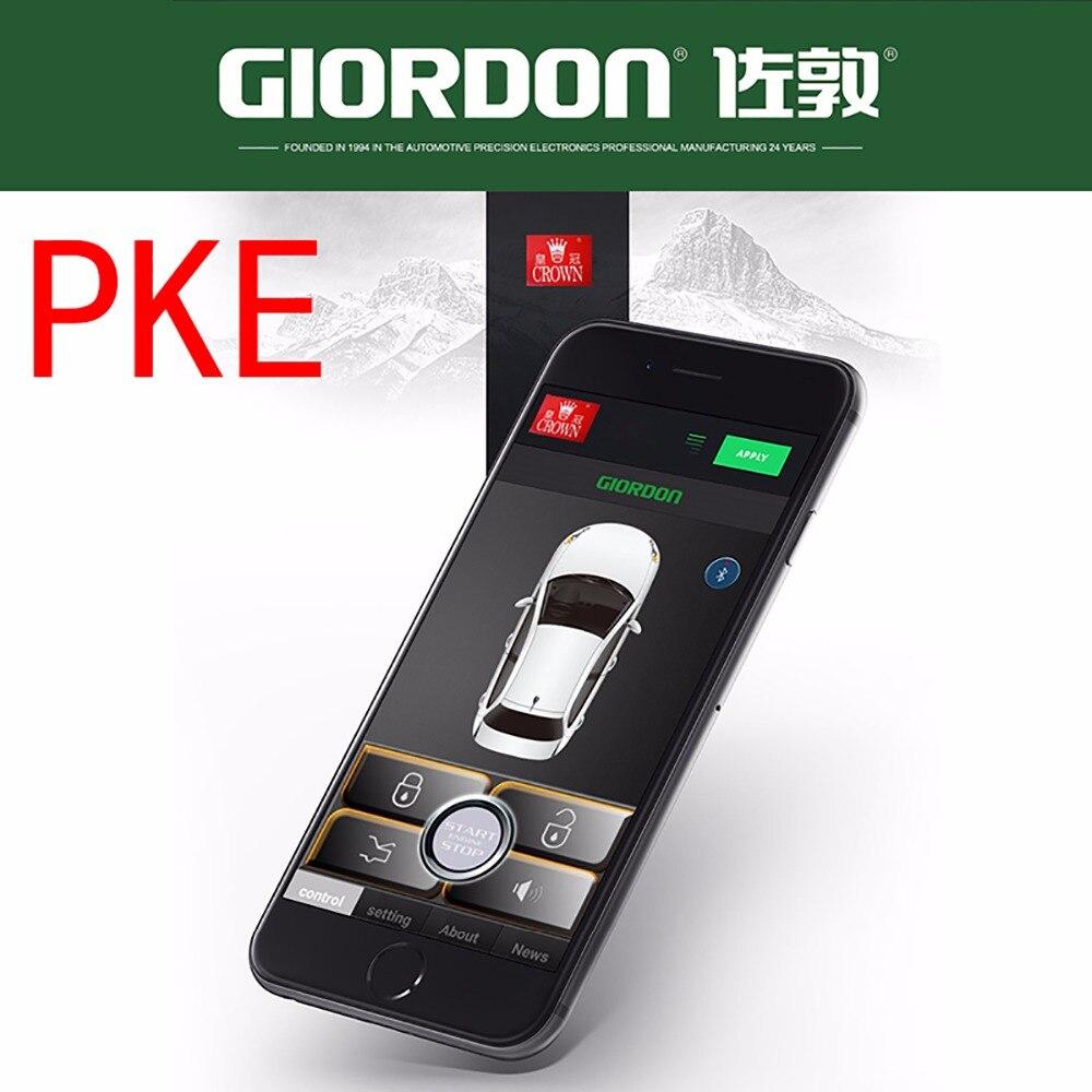 PKE voiture Auto Kit Central à distance serrure de porte verrouillage véhicule système d'entrée sans clé avec télécommandes système d'alarme de voiture PM068