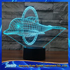 3D Vision Dolphin 7 Colorful Gradients LED Acrylic Plate Desk Lamp Bedroom Decoration Night Light