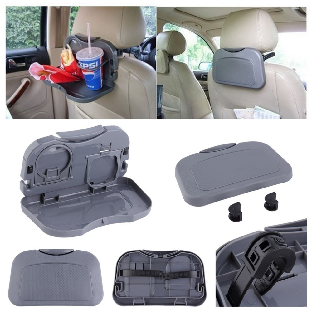 New Car food tray folding dining table drink holder car pallet back seat water cup holder car styling folding cup holder