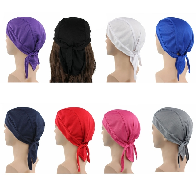 Unisex Sweat Wicking Beanie Cap Chemo Hat Head Wrap Adjustable Bandana  Quick-Dry b40a4808f9b1