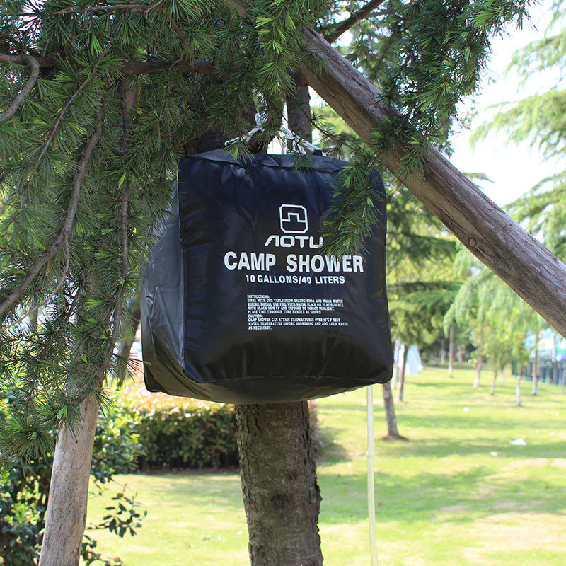 40L Portable Outdoor Shower Bag Solar Heated Bath Water Storage Bag For Camping Travel Hiking