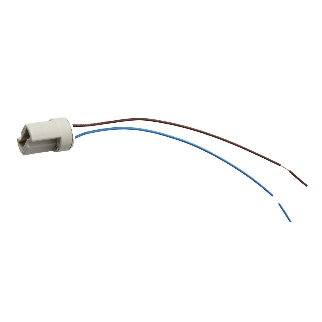 Practical-10pcs 250 В 2A G9 Разъем Керамика свет лампы держатель с кабель Ведущий-off-White