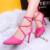 Sexy Negro Rosa Gris Sandalia Tacón de Aguja Tacones Altos Zapatos Inferiores Rojos de los Altos Talones de Las Mujeres Con Tacones Mujeres Del Banquete de Boda bombas