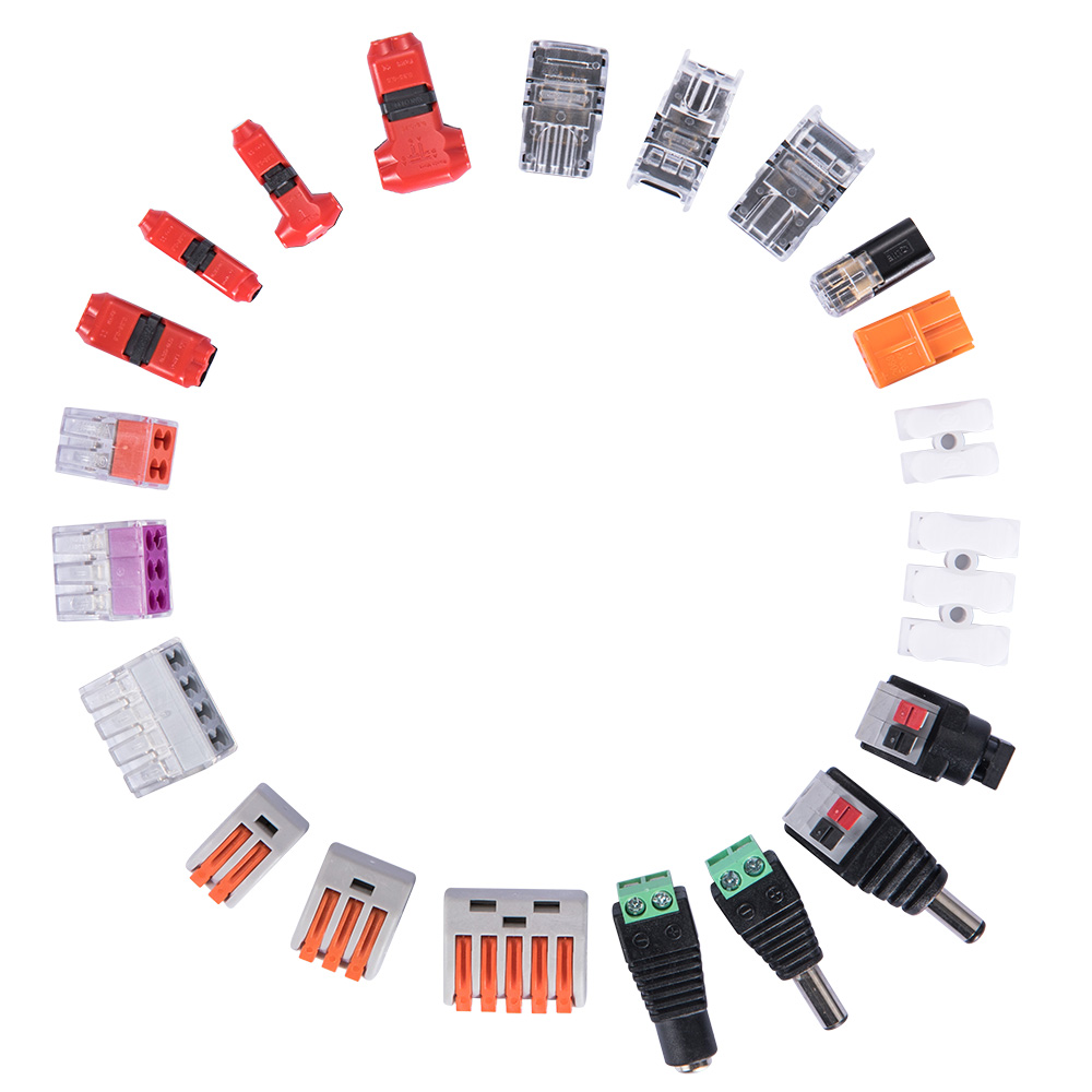 3.5 dc power jack female male cable jst led strip connector pigtail junction box 2 4 5 pin rgb cable accessories Hello Fish
