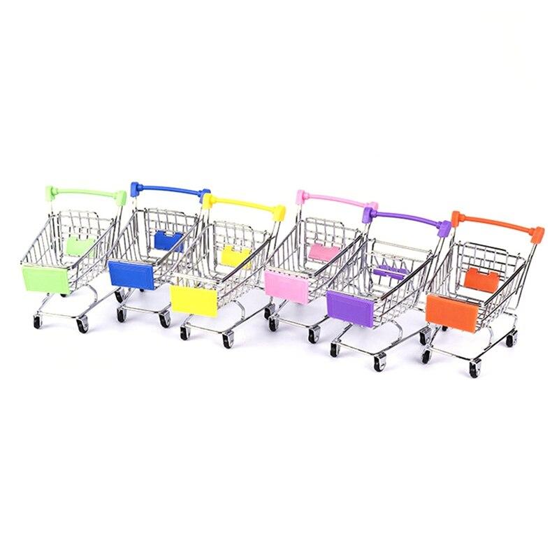 EntrüCkung Kreative Mini Kinder Handwagen Simulation Kleine Supermarkt Warenkorb Kinder Pretend Spielen Spielzeug Kinderwagen Farbe Zufällig