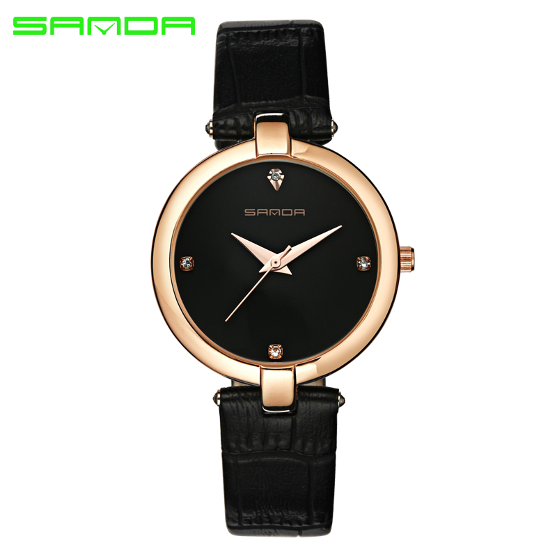 Sanda quartz watch women ladies 2017 brand famous luxury female clock wrist watch quartz watch for Celebrity watches female 2017