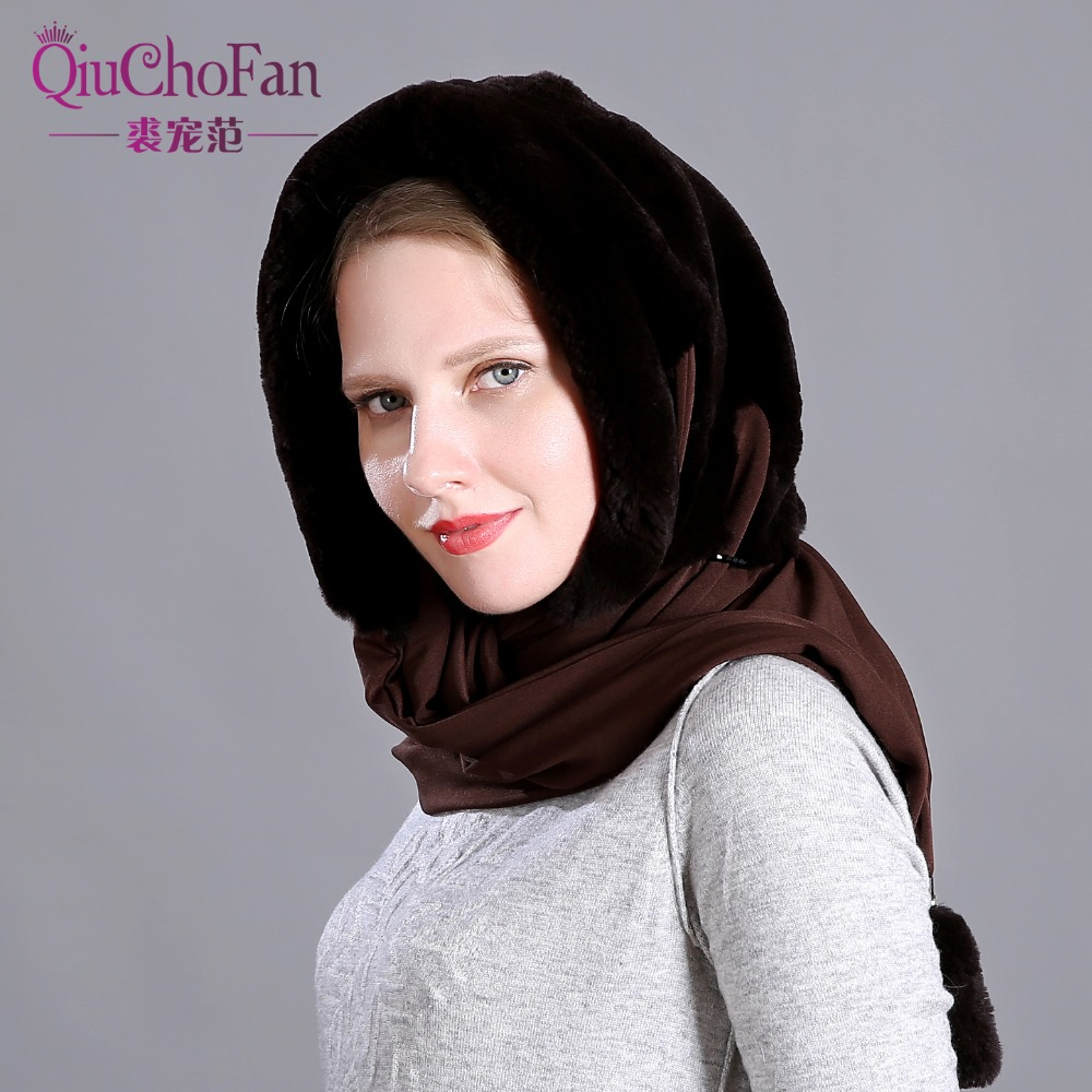 Naturel réel lapin fourrure chapeau écharpe élégant chaud hiver chapeaux pour femmes classique russe Style qualité fourrure femme bonnets