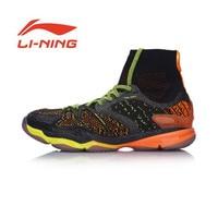 Li Ning оригинальный Для мужчин Ranger Профессиональный Обувь для бадминтона с высокой Подушки Bounse + подкладка спортивные Обувь Спортивная обувь