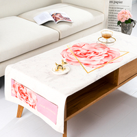 Pink Rose Tea Table Cloth Modern Simple Tablecloth Cotton Llinen Storage Bag Table Cover Fashion Tea Table Tablecloth