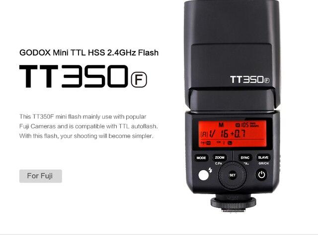 US $84 9 |Godox TT350F TTL Flash Light 2 4G Wireless HSS Master Slave for  Fuji X Pro2 X T20 X T1 X T2 X Pro1 X T10 X E1 X A3 X100F X100T-in Flashes