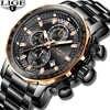 Новинка 2019 LIGE мужские часы лучший бренд класса люкс Спортивные кварцевые все стальные мужские часы военные водонепроницаемые хронограф ...