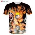 Sportlover бренд одежды мужчин женщин майка аниме мультфильм 3D печать футболка наруто / цельные / дракон шарик / один удар человек топ тис