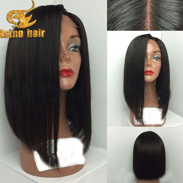 Side part long bob hairstyles virgin brazilian human hair lace front wigs  black women glueless bob full lace human hair wigs ee237c63c8