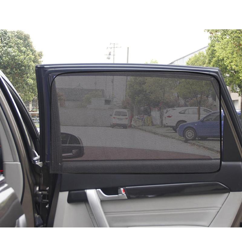 Magnetic Mount Car Side Window Sunshade Sun Visor 80X50cm Dense Mesh Blind Sun Shades Universal Front Rear Windows Net Blinds car window curtains legal