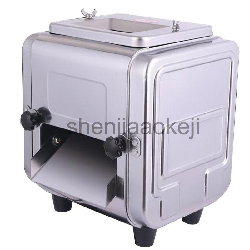 Stainless steel electric Meat slicer commercial multi-function meat slicing machine dicing meat cutter 220v 550w 1pc electric bread slicing slicer machine beef oion saw meat cutter