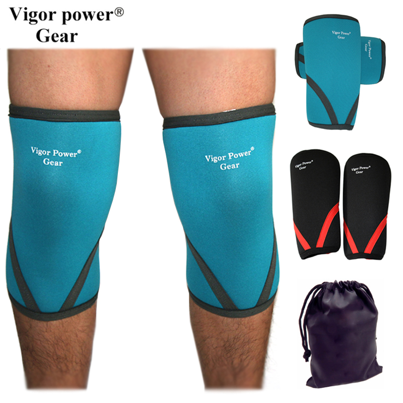 Vigor Power Gear 7mm neoprene knee sleeves power lifting knee supports weight lifting st ...