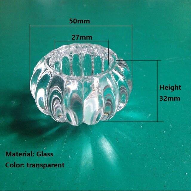 2 шт./партия стеклянный прозрачный тыквенный настенный светильник украшение шар для осветительных аксессуаров размер 50*32*27 мм другая сторона 11 мм
