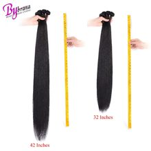 28 30 32 40 Inch Indian Silk Straight Hair 1/3/4 Bundles Deal Bybrana Human Hair Extensions One Remy Natural Color Hair Bundles(China)