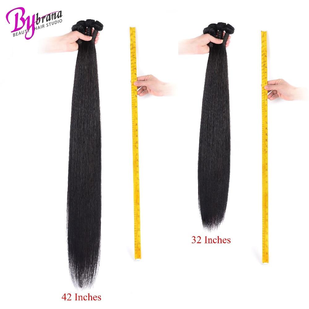 28 30 32 40 Inch Indian Silk Straight Hair 1/3/4 Bundles Deal Bybrana Human Hair