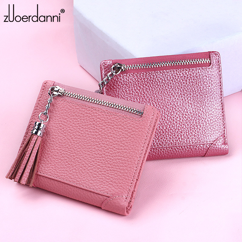 Fashion Slim Women Wallet Genuine Leather Small Female Coin Purse New Designed Lady Credit Card Holder Pocket Mini Short Wallet new fashion small lady wallets coin purse lady with card holder vintage women wallet short mini purse best gift for friend500835