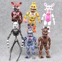 6 sztuk/zestaw pięć nocy w Freddy Anime rysunek Fnaf niedźwiedź figurka pcv Model Freddy zabawki dla dzieci prezenty