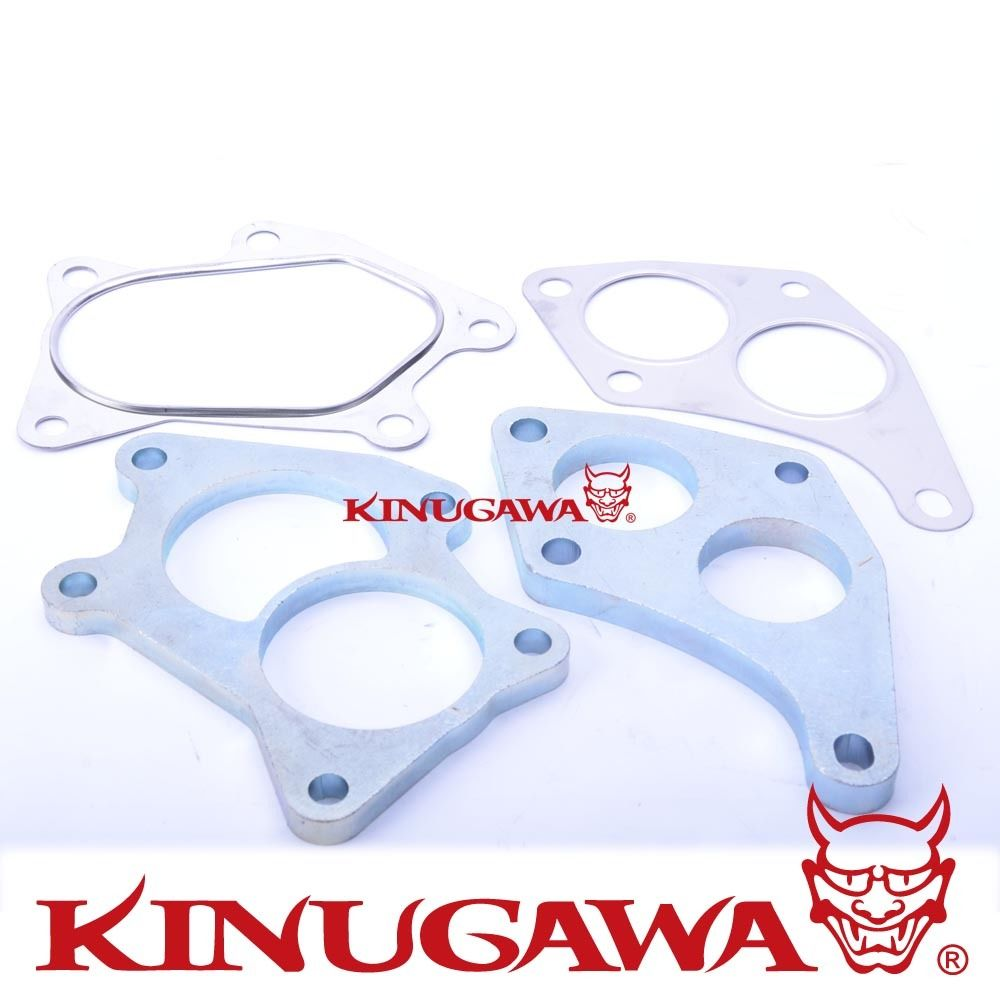 Kinugawa Turbo Turbine Flange & Gasket Kit for SUBARU STI Scroll VF36 VF37 VF42 Twin ScrollKinugawa Turbo Turbine Flange & Gasket Kit for SUBARU STI Scroll VF36 VF37 VF42 Twin Scroll