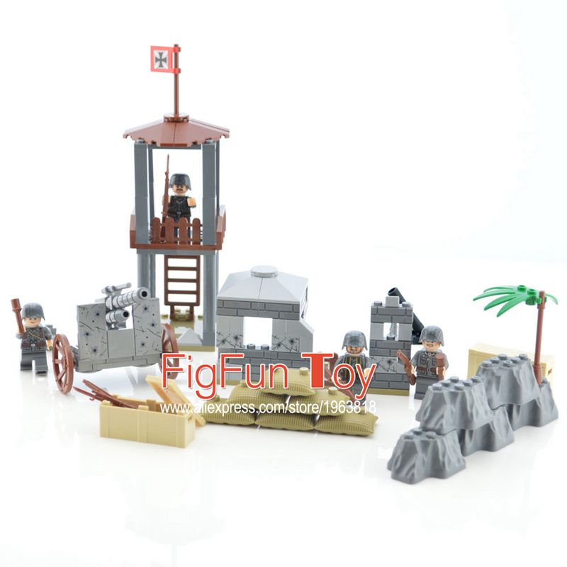 Custom WW2 German Military Army Soviet US Soldiers Castle Building Block Bricks Set DIY Toys for Children building soviet citizens with american tools