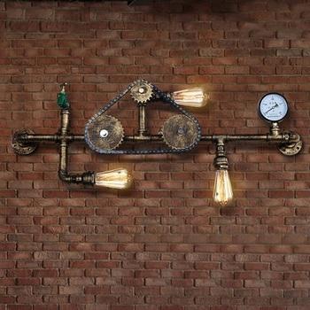 Iron Water Pipe Lamp Loft Style LED Edison Wall Sconce Antique Wall Light Fixtures For Home Decor Vintage Industrial Lighting 1