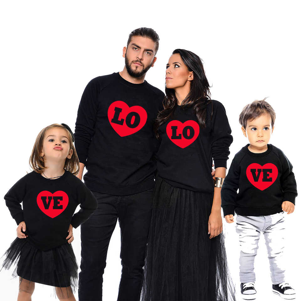 cf3745aa433 love sweatshirts family matching outfits mother daughter father son tops  mommy and me clothes family look