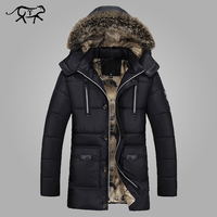 Parkas Men Brand Clothing Fashion Winter Jacket Men Thermal Hooded Thicken Coat Casual Men Fur Hood