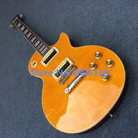 High quality Slash Signature lp guitar,tiger flame maple LP electric guitar,Solid mahogany LP slash guitaar,Free shipping